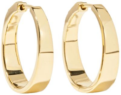 Meryl Gold Hoop Earrings-Anita Ko
