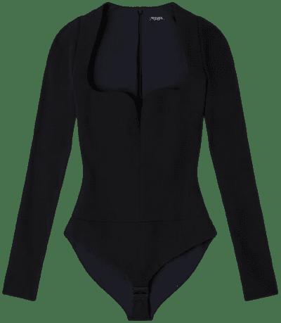 Black Jersey Bodysuit-Versace
