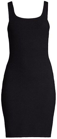 Black Ribbed Tank Dress-Victor Glemaud