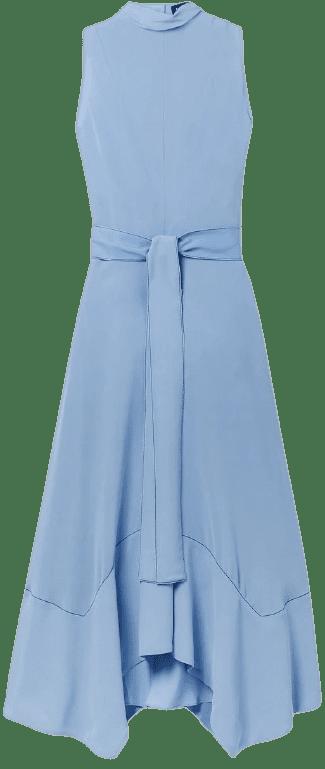 Light Blue Silk-Georgette Midi Dress-Proenza Schouler