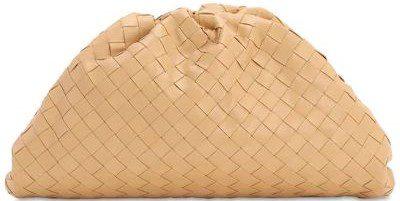 Beige Leather Clutch-Bottega Veneta
