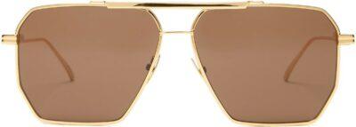 Gold Aviator Metal Sunglasses-Bottega Veneta