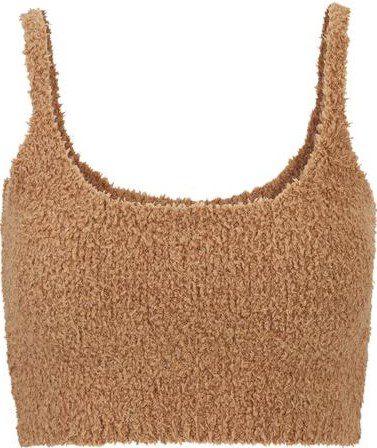 Camel Cozy Knit Bralette