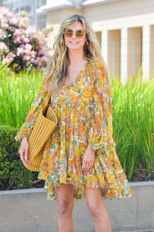 Heidi Klum arrives at America's Got Talent in Pasadena Ca