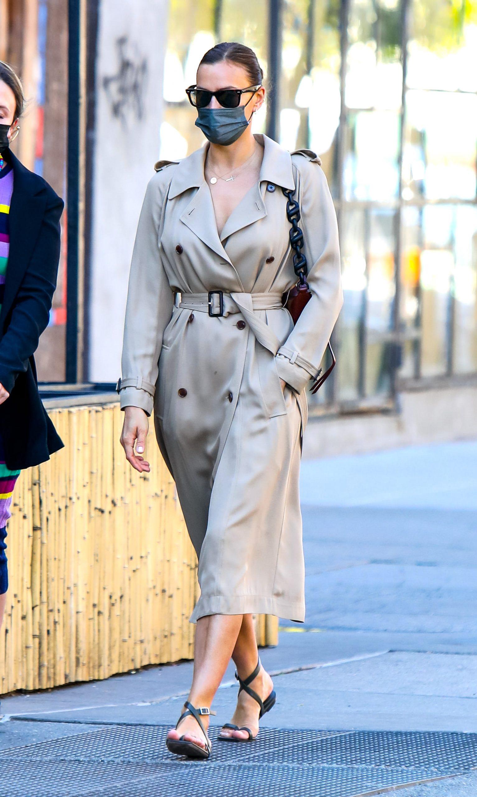 Irina Shayk runs errands in in Downtown, Manhattan