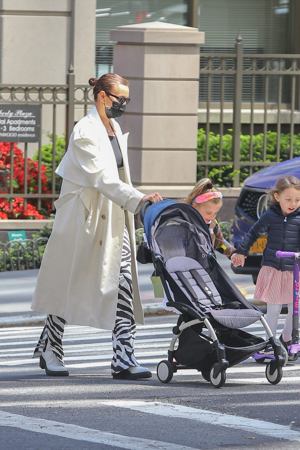 Model Irina Shayk and Daughter Lea Cooper seen taking a stroll together in New York City