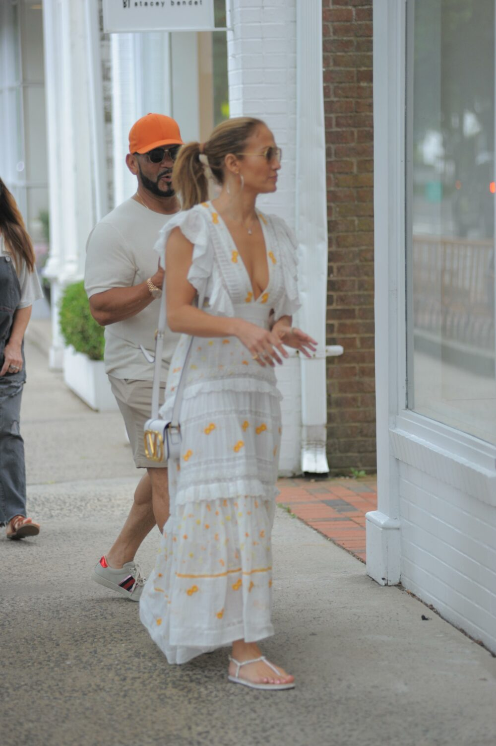 Jennifer Lopez is seen out and about in the Hamptons