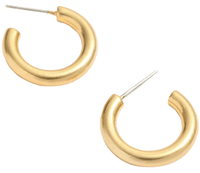 Vintage Gold Chunky Small Hoop Earrings