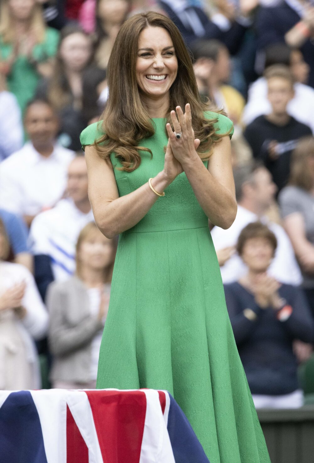 Catherine Duchess of Cambridge pictured on Centre Court at the Wimbledon Tennis