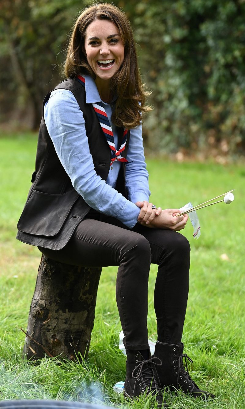 The Duchess of Cambridge visits Northolt Scout Group