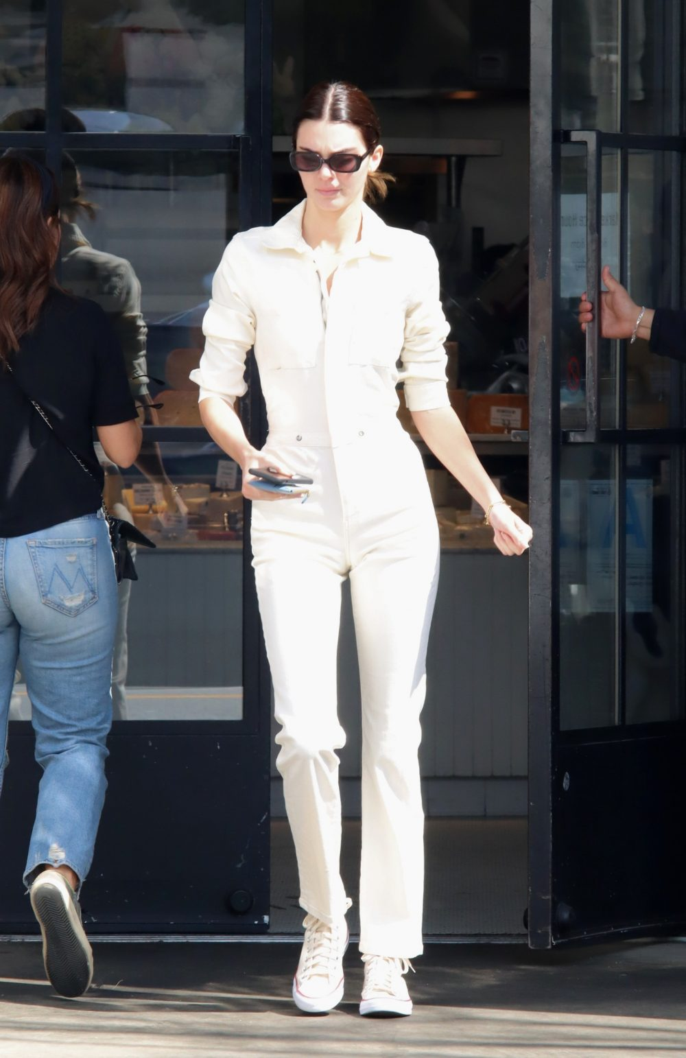 Kendall Jenner seen in a onesie after morning coffee run at Joan's on Third