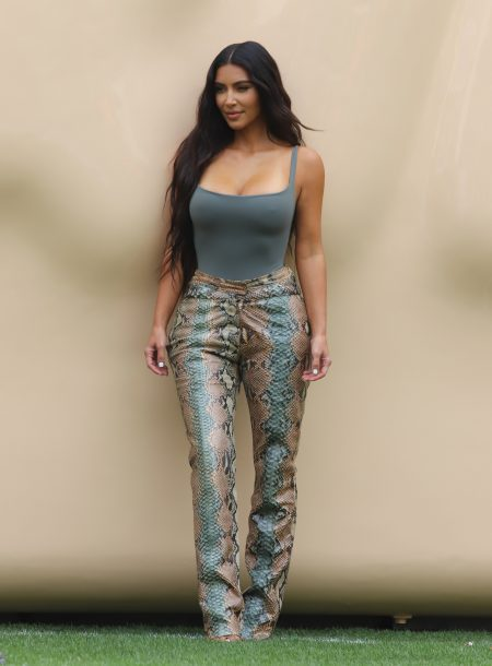 Kim Kardashian promotes her SKIMS pop up at the Grove after becoming ranked Billionaire