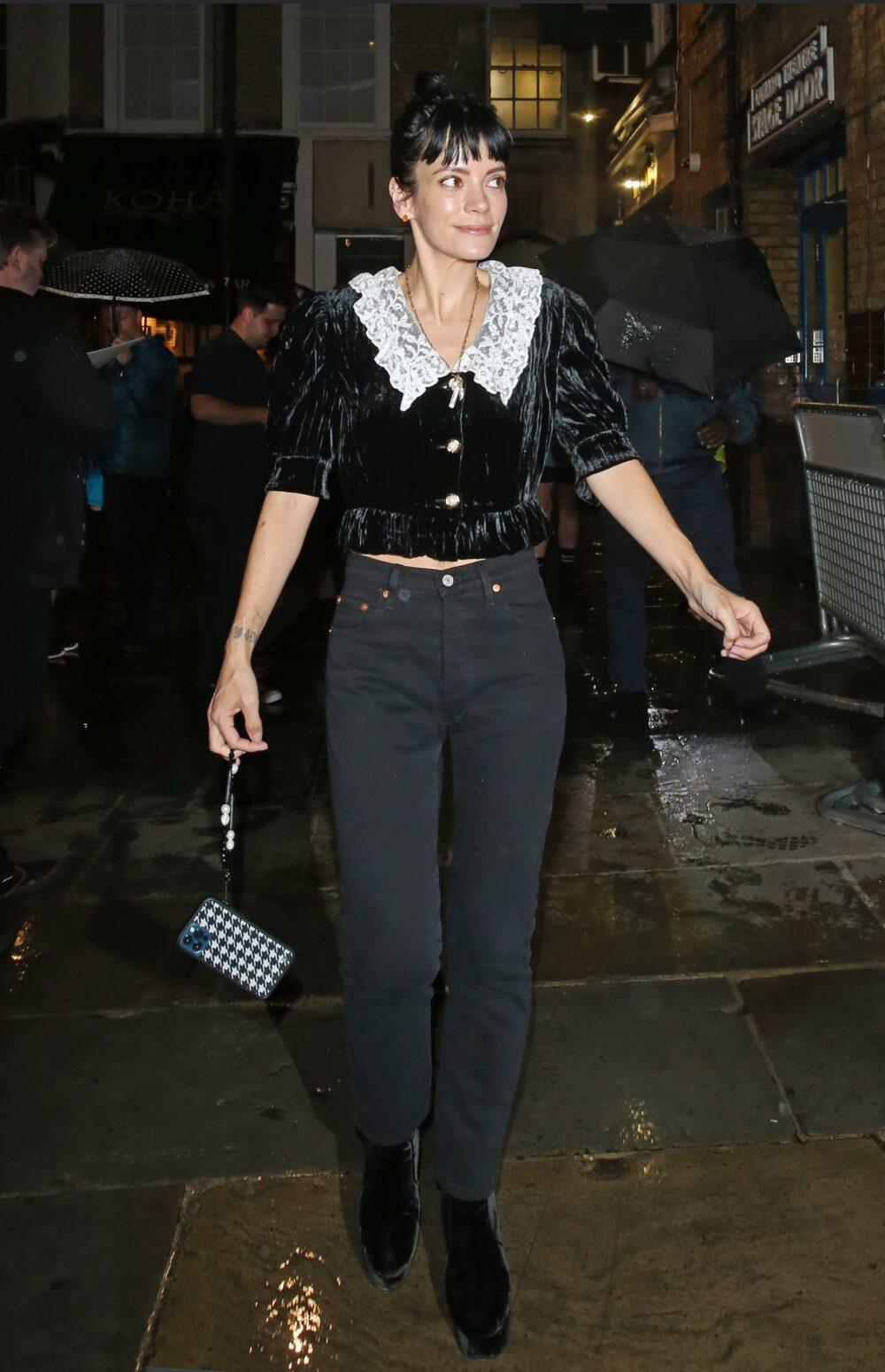 Lily Allen leaving the Noel Coward Theatre