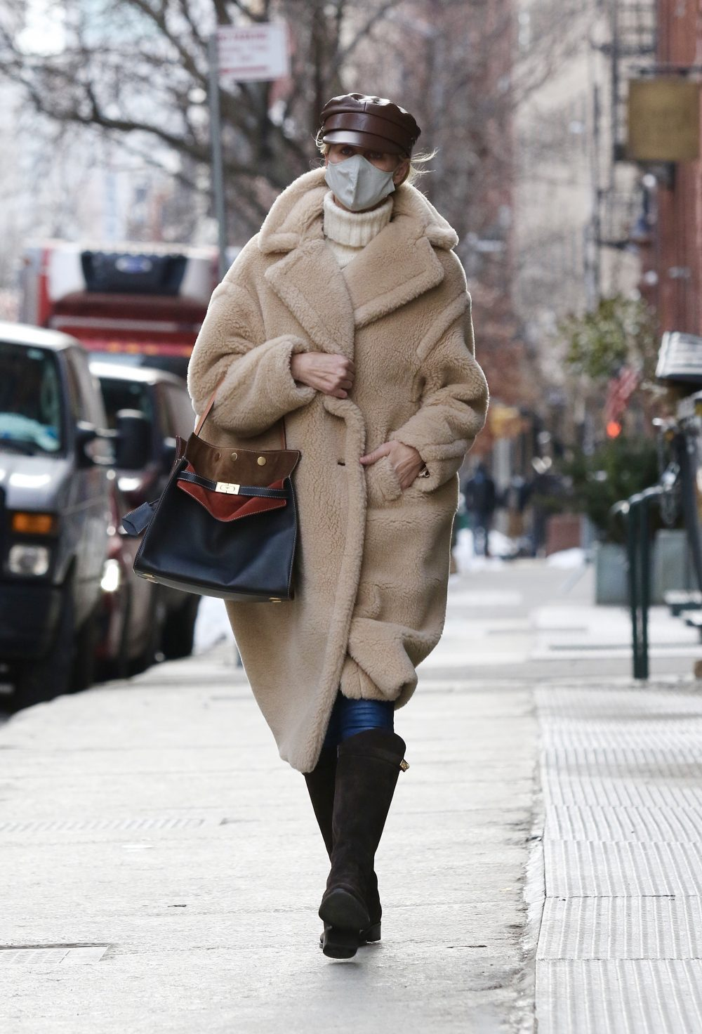 Nicky Hilton is all bundled up for the cold weather while shopping in NYC