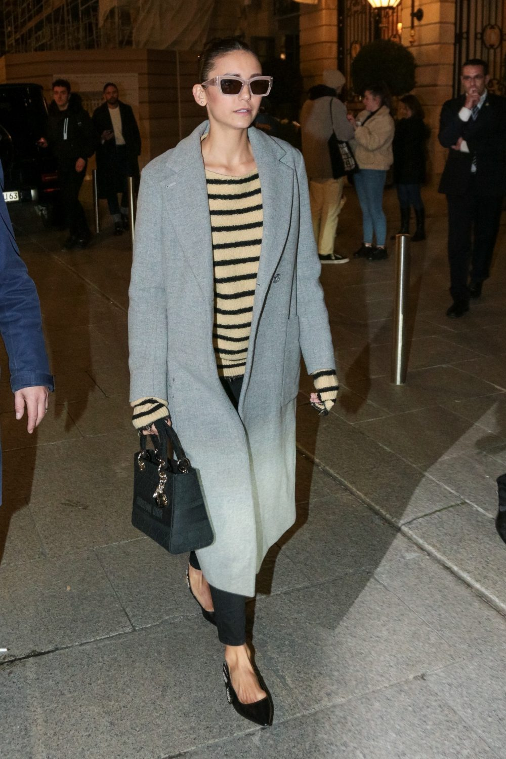 Nina Dobrev leaves the Ritz in Paris