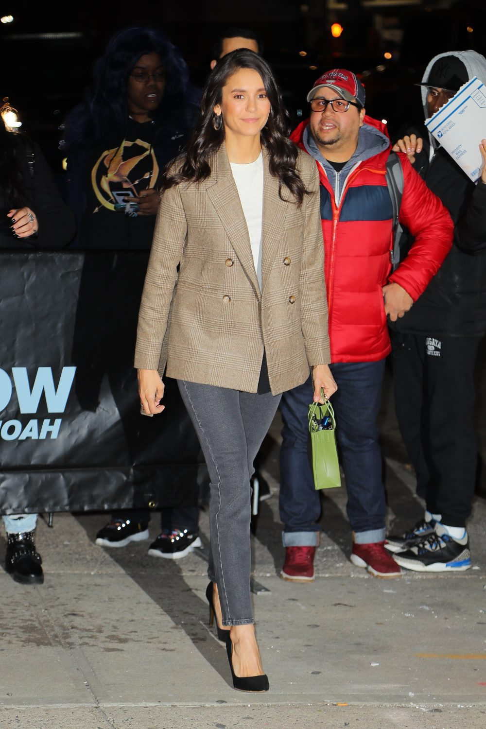 Nina Dobrev arrives at the Daily Show in New York City