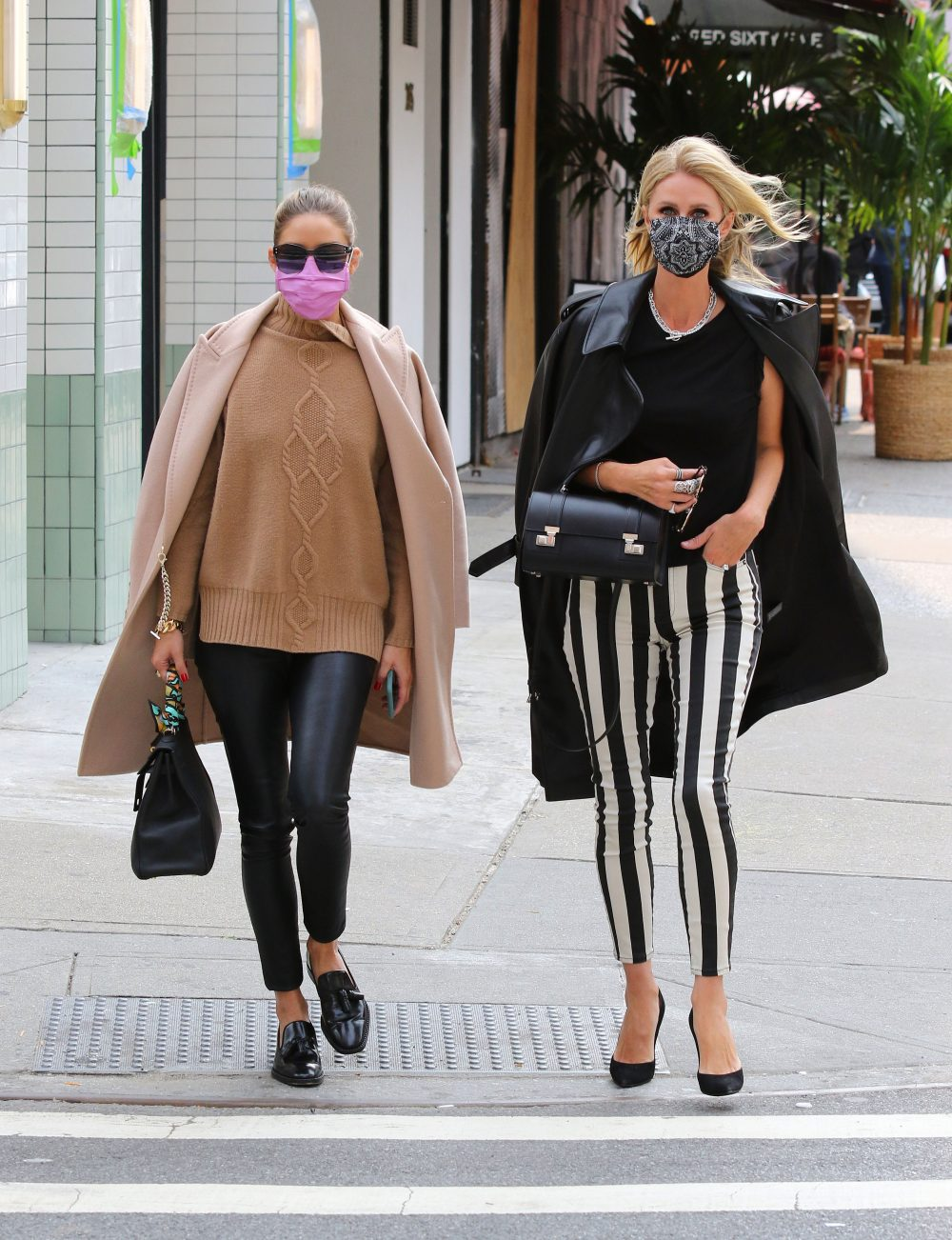 Nicky Hilton and Olivia Palermo look super stylish after having lunch together in NYC