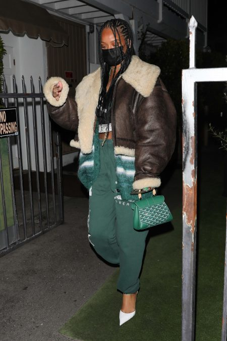 Rihanna leaves dinner at Giorgio Baldi in Santa Monica