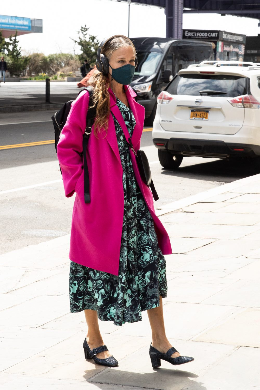 Sarah Jessica Parker Wears a Moo Moo Dress and Mary Janes in NYC