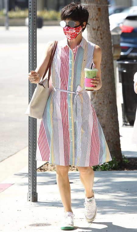 Actress Selma Blair and daugther out and about is Los Angeles