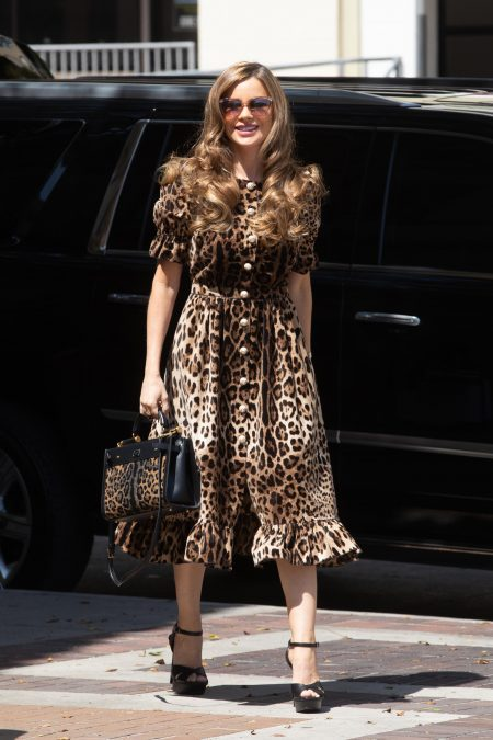Sofia Vergara makes her arrival to AGT Taping