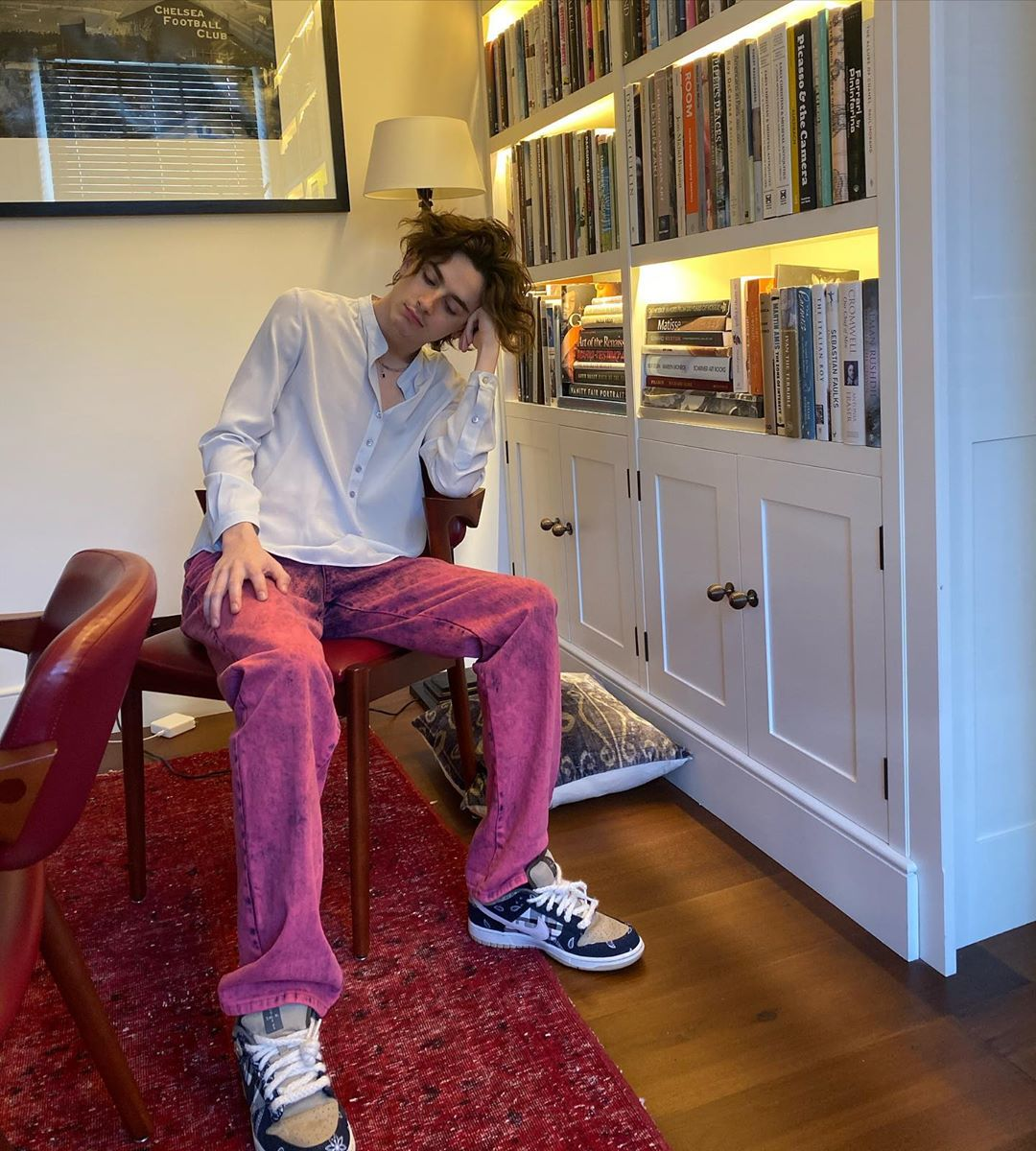 Timothee Chalamet Pink Straight Leg Jeans Stella Mccartney The Nines